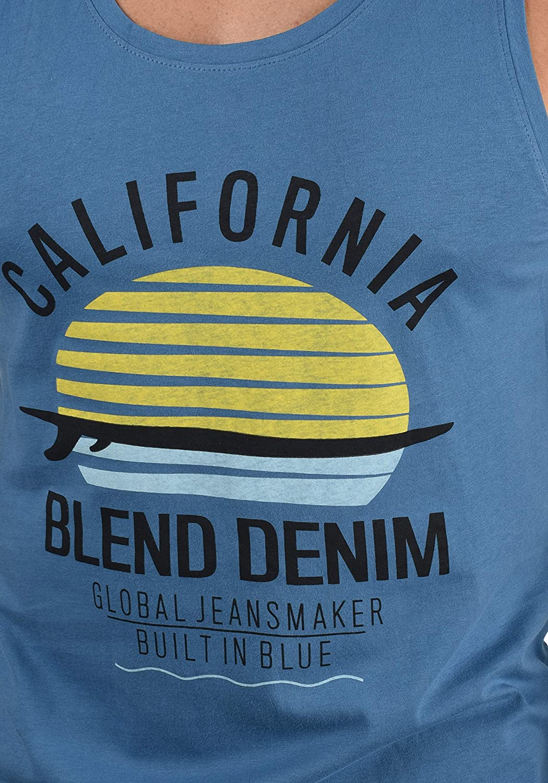 BLEND Cali D/ébardeur T-Shirt sans Manches Tank Top Imprim/é pour Homme avec Imprim/é