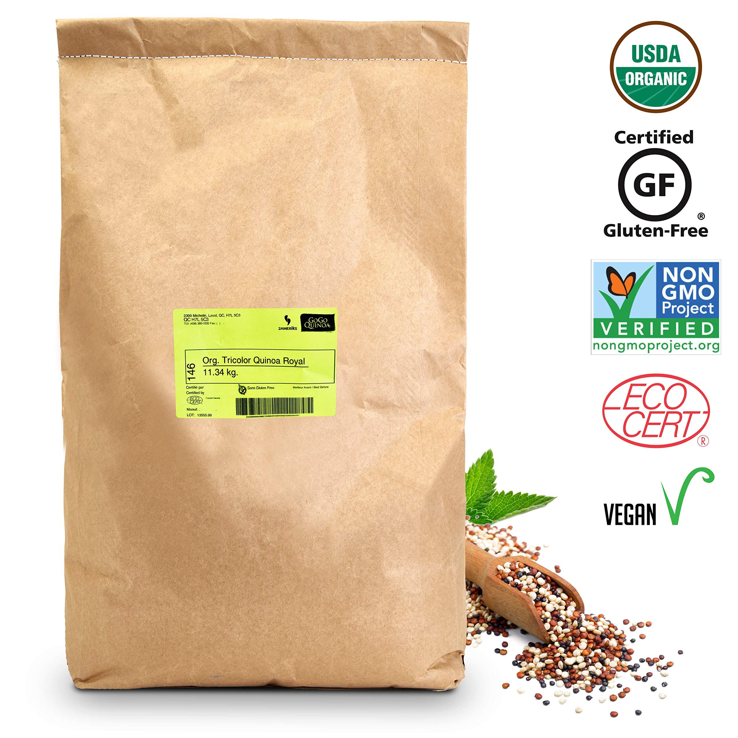 GoGo Quinoa Grains Tricolor Organic, 25 lbs by GoGo Quinoa