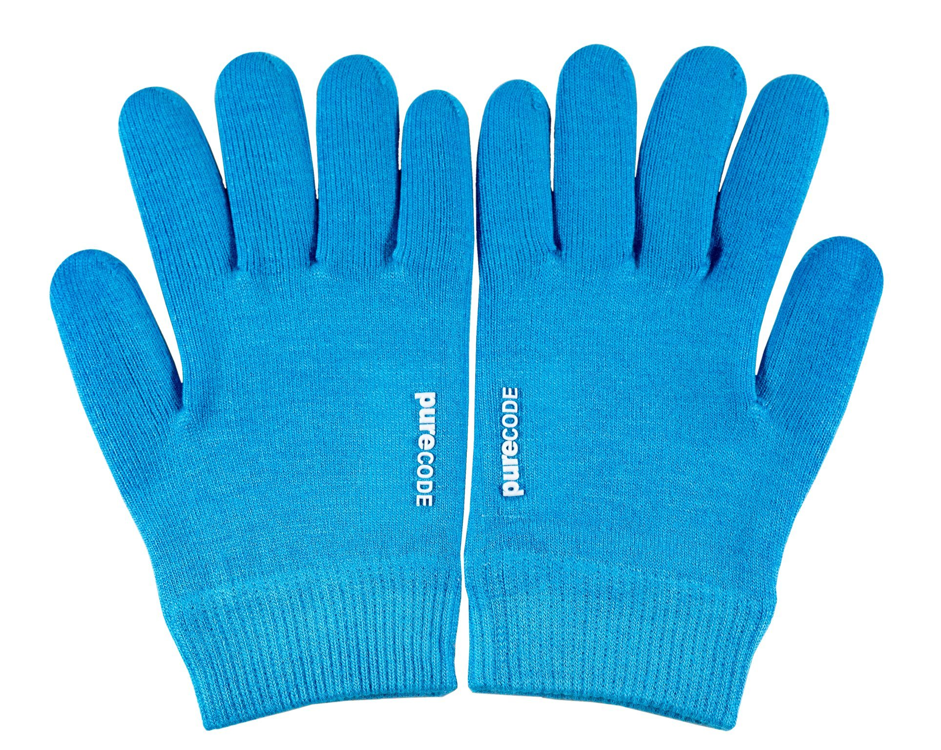 PURECODE Moisturizing Gel Gloves (Dark Blue XL Men) by PURECODE (Image #2)