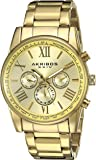 Akribos XXIV Men's AK904YG Gold-Tone Multi-Function Quartz Bracelet Watch