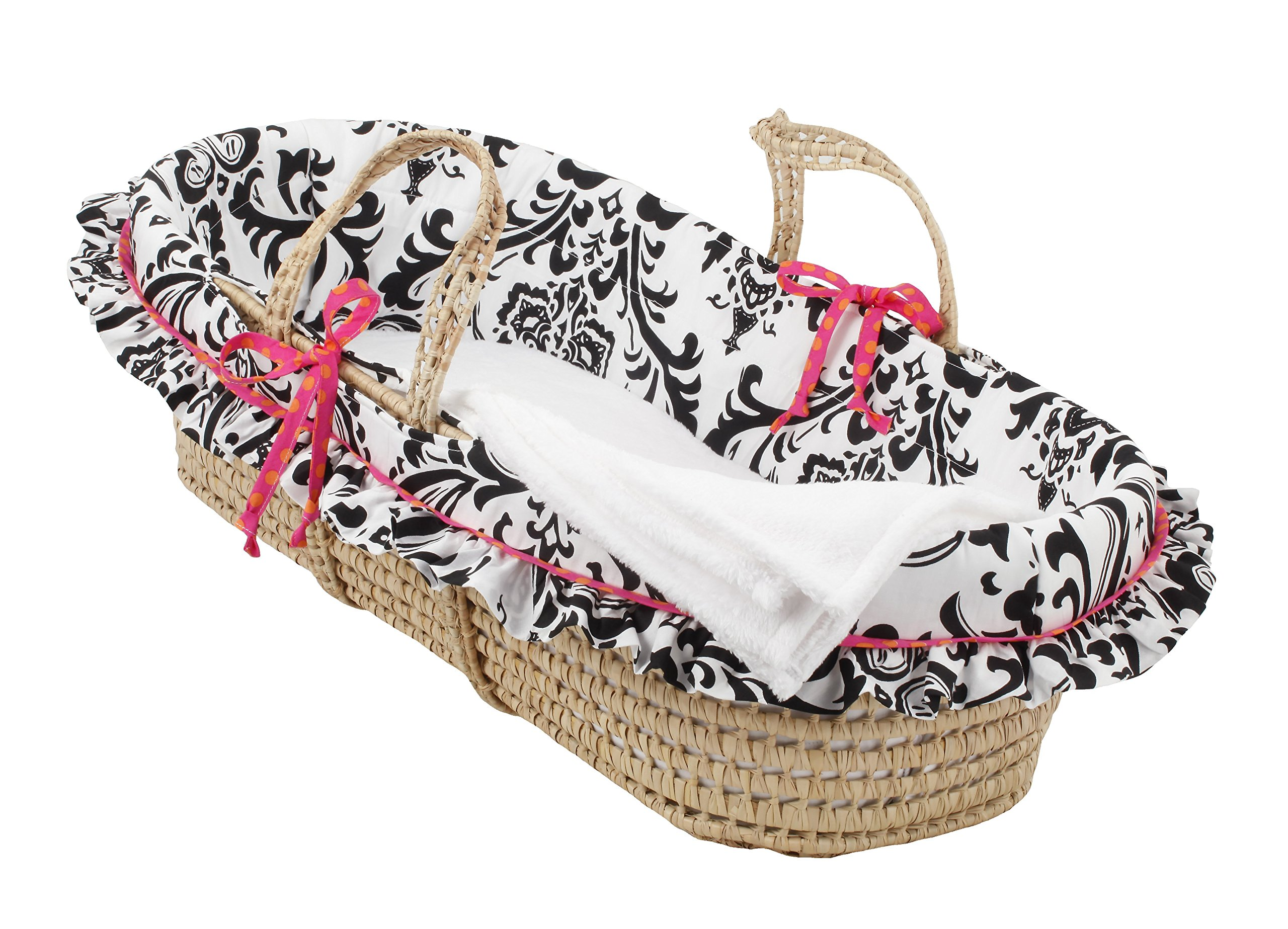Cotton Tale Designs Moses Basket, Girly by Cotton Tale Designs