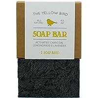 Charcoal Soap (2 Bar Pack) Natural Body & Face Detox Cleansing Soap for Men & Women. Vegan, Organic, Non GMO Ingredients…