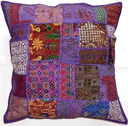Amazon Com Sophia Art Indian Decorative Cushion Cover 24x24 Cotton