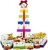"Happy Birthday Celebration Gift Basket Box Tower 16"" - 6 Tier"