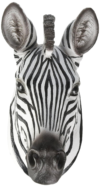 World Of Wonders African Zebra Head Mount Wall Statue Mini-Bust 9.25 in.