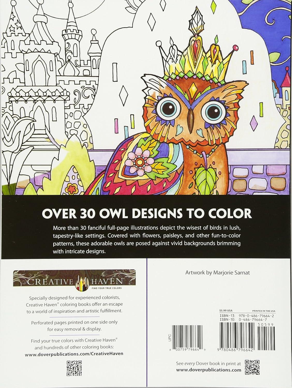 Creative Haven Owls Coloring Book Books Marjorie Sarnat Amazoncouk Kitchen Home