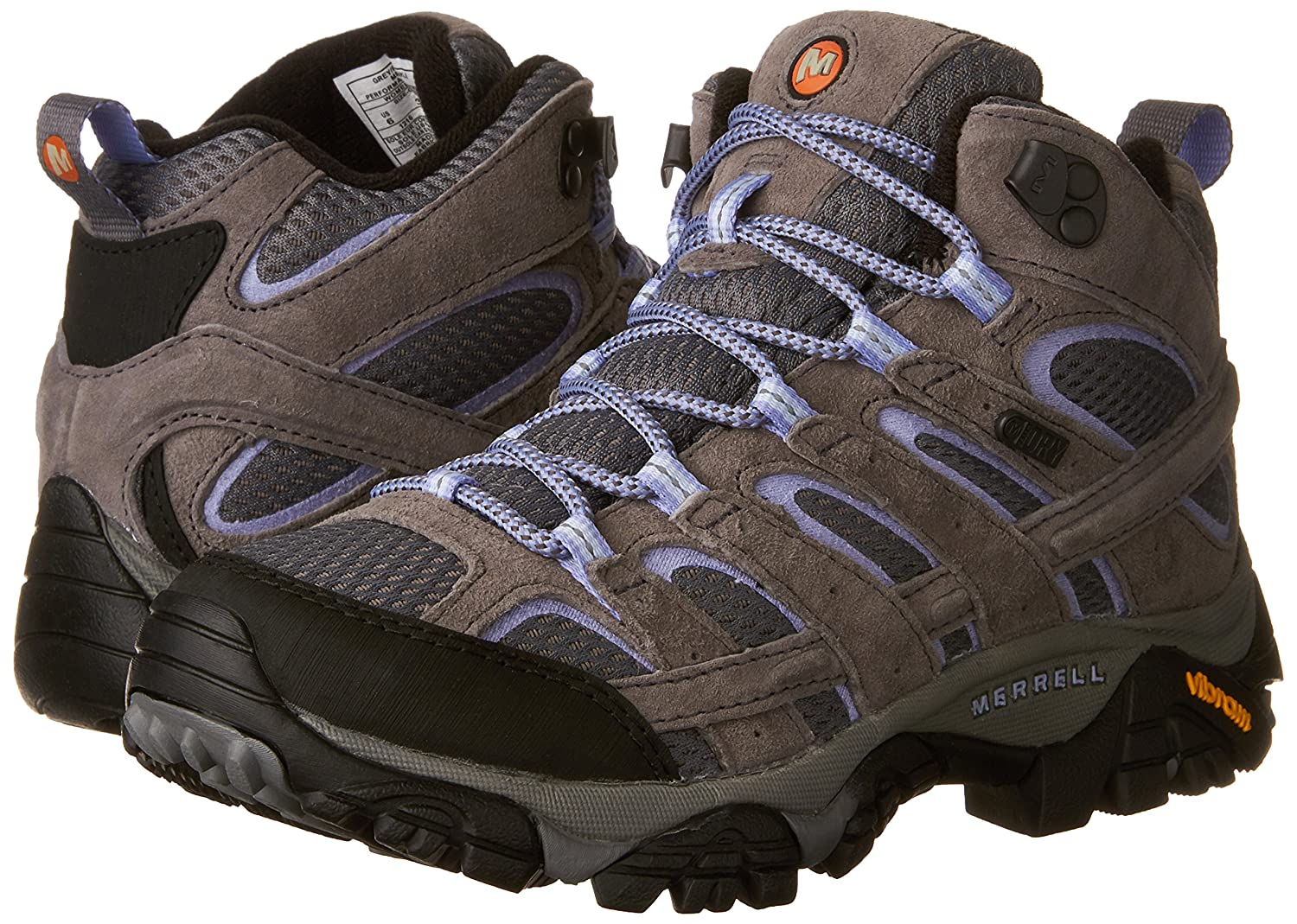 Merrell Women's Moab 8.5 2 Mid Waterproof Hiking Boot B01MU2WKMC 8.5 Moab B(M) US|Grey/Periwinkle 754c54