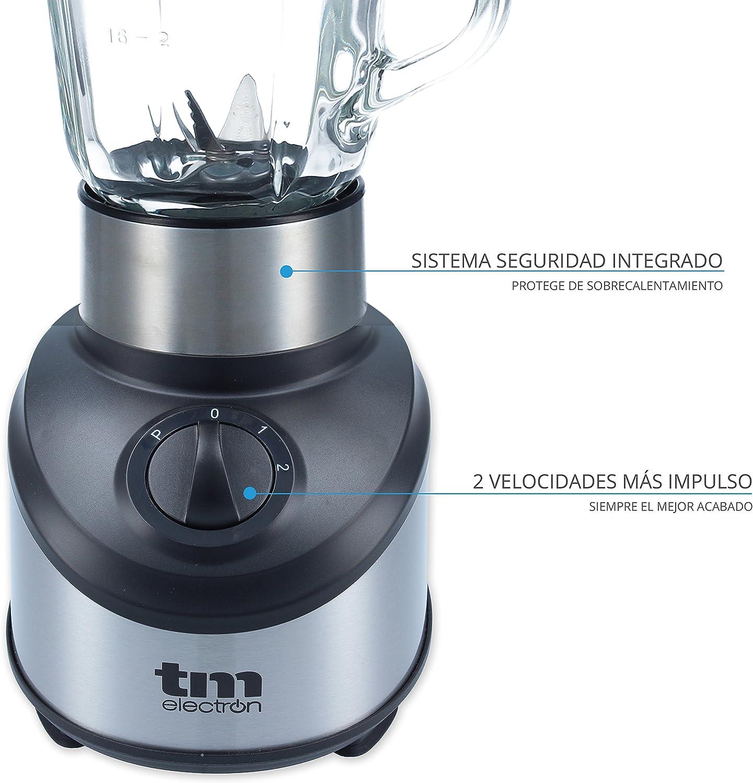 TM Electron TMPBA012 Batidora de Vaso de Cristal, 500 W, 1.5 ...