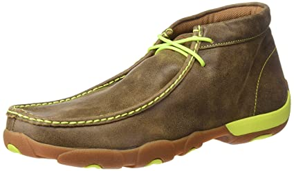 aa99450894317 Amazon.com: Twisted X Mens Yellow Lace Driving Mocs: Sports & Outdoors