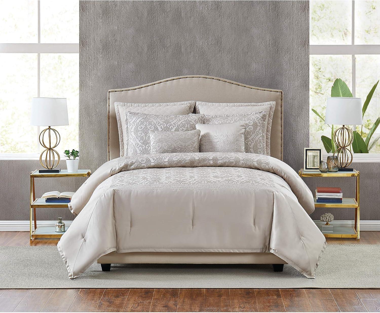 5th Avenue Lux Riverton Luxury 7 Piece Comforter Set, Queen