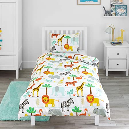 Bloomsbury Mill   Safari Adventure   Jungle Animals   Kids Bedding Set    Junior/Toddler