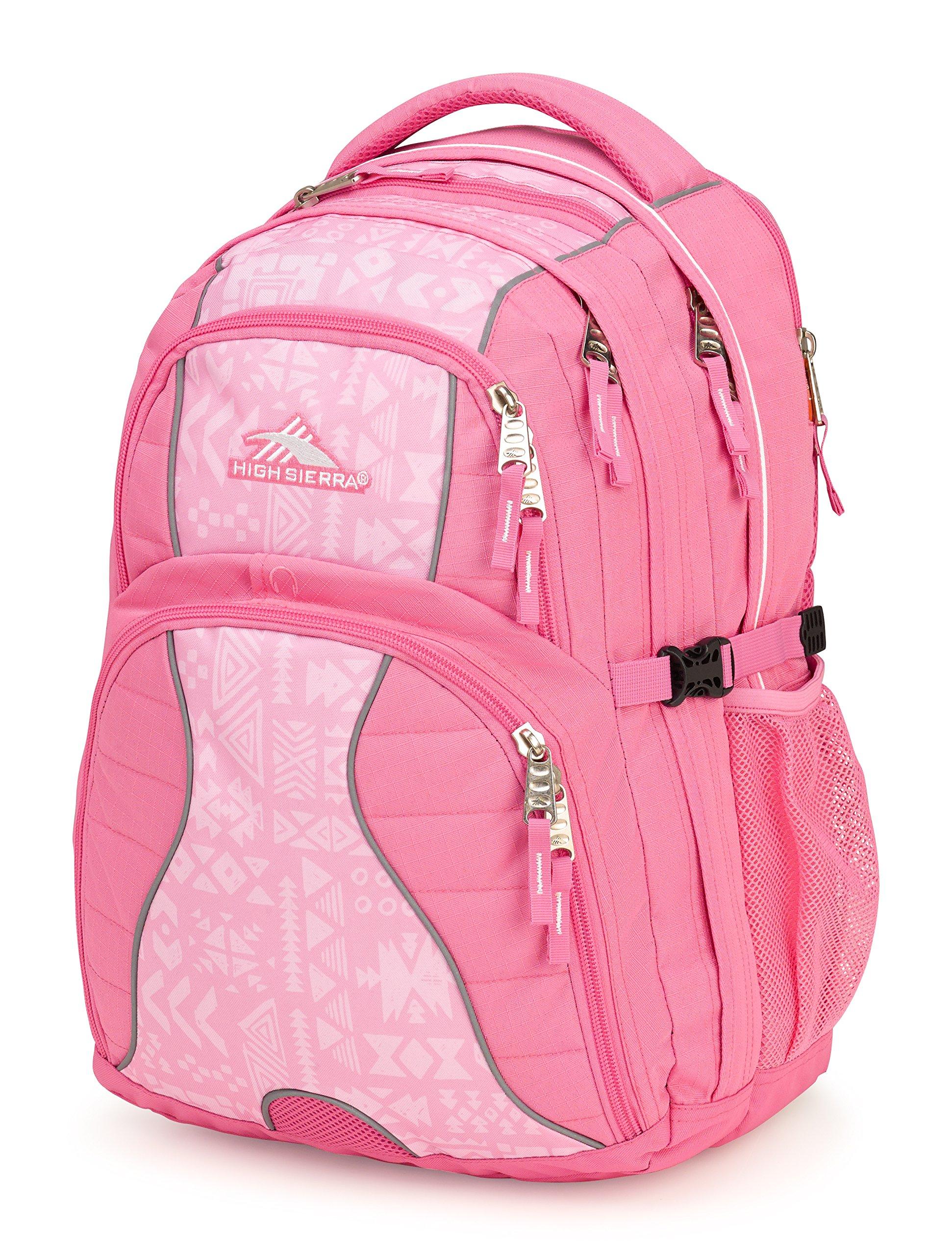 High Sierra Swerve Laptop Backpack, Pink Lemonade/Block Print