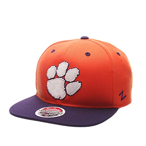 55602f31 Image Unavailable. Image not available for. Color: ZHATS NCAA Clemson  Tigers Men's Z11 Snapback Hat ...