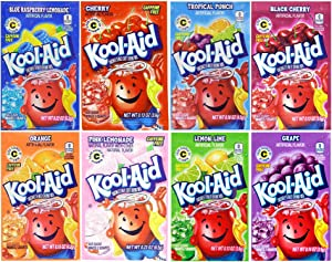 Kool-Aid Drink Mix, Variety Pack of 8 Flavors, 48 Packets