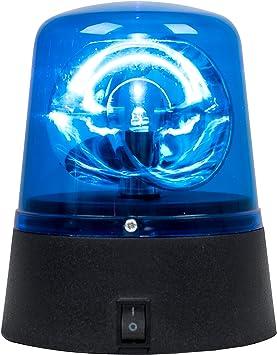 MiniSun - Divertida sirena de policía LED de color azul fluorescente a pilas: Amazon.es: Juguetes y juegos