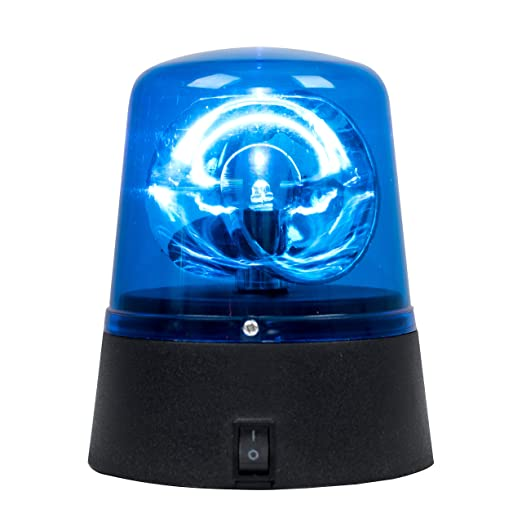 Novelty Party Disco Battery Operated Rotating Blue LED Police Siren  Flashing Light
