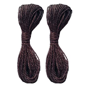 Natural LWR Crafts Jute Rope 2mm 45ft Per Pack Pack of 2