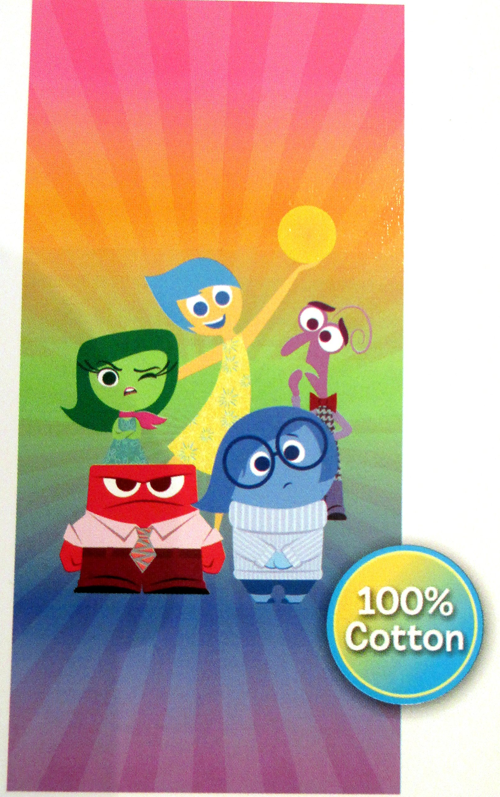 Jay Franco & Sons Disney Pixar Inside Out Beach Towel 28-inch by 58-inch