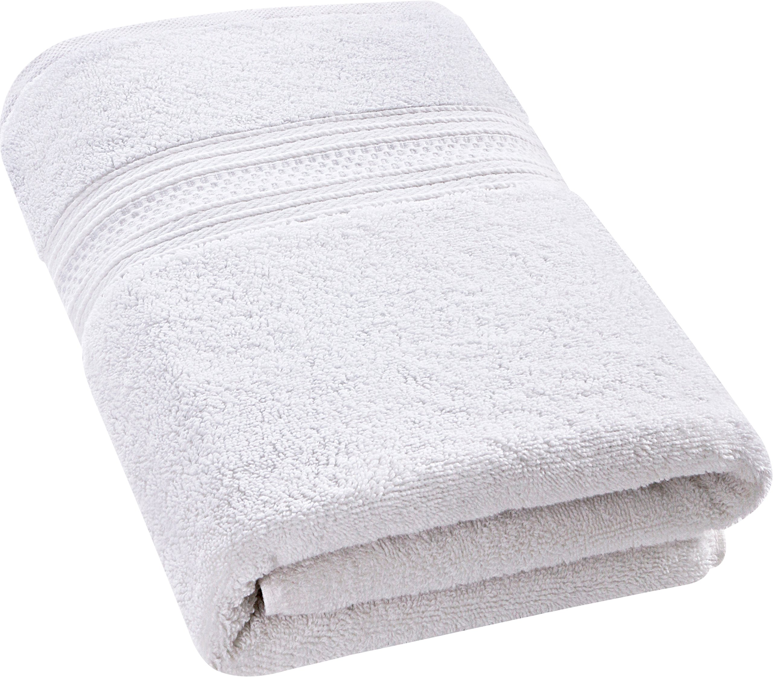 Utopia Towels 700 GSM Premium Cotton Extra Large Bath Towel (35 x 70 Inches) Soft Luxury Bath Sheet - White