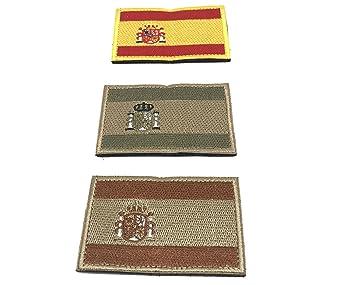 12be8baab47e Kit 3 x Parches España Velcro x España Bandera Táctico bandera con velcro  podría ser pegado a la ropa, chaleco, gorra, mochila Directamente