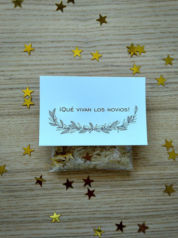 Bolsas de arroz y confeti modelo star para bodas (Pack de 20 ...