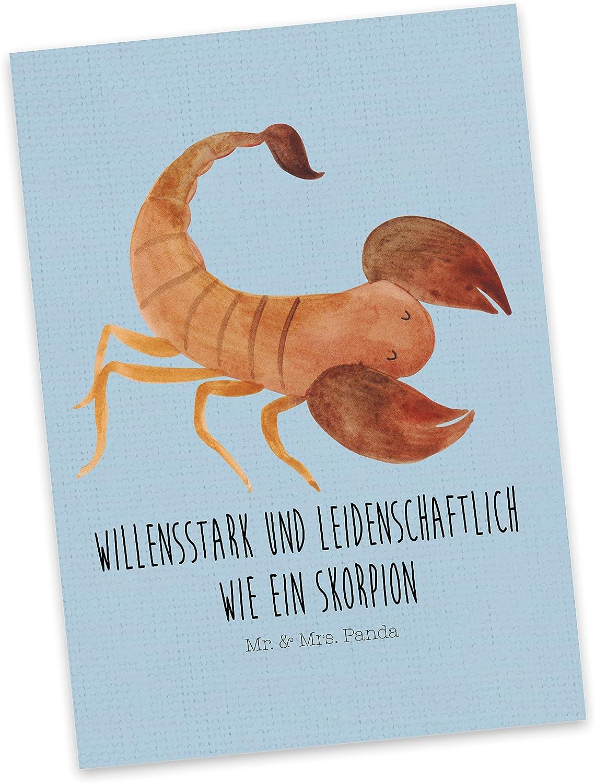 /& Mrs Panda Postkarte Sternzeichen Krebs Mr