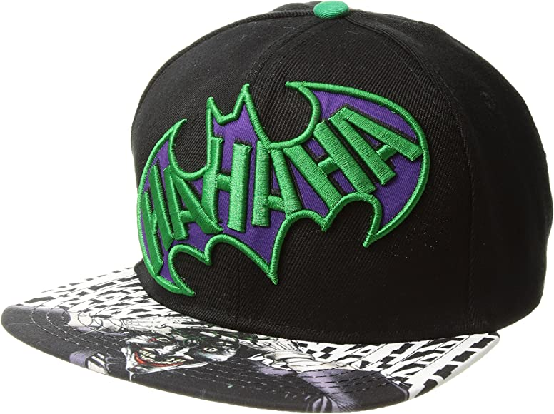 DC Comics The Joker HAHAHA - Gorra de Adulto con Visera Plana ...