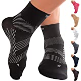 TechWare Pro Ankle Compression Socks-Plantar Fasciitis Sock & Foot Support. Achilles Tendonitis Brace & Arch Support for…