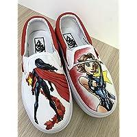 e4c92d694e Custom Vans Wonder Woman Vans Slipon Shoes Hand Painted Shoes Hand Painted  Vans Slipon Custom Vans
