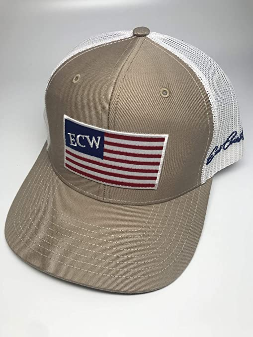 8f49b6dad9f Image Unavailable. Image not available for. Color  Hunting and Fishing  Depot East Coast Waterfowl American Flag Patch Trucker Hat Snap Back