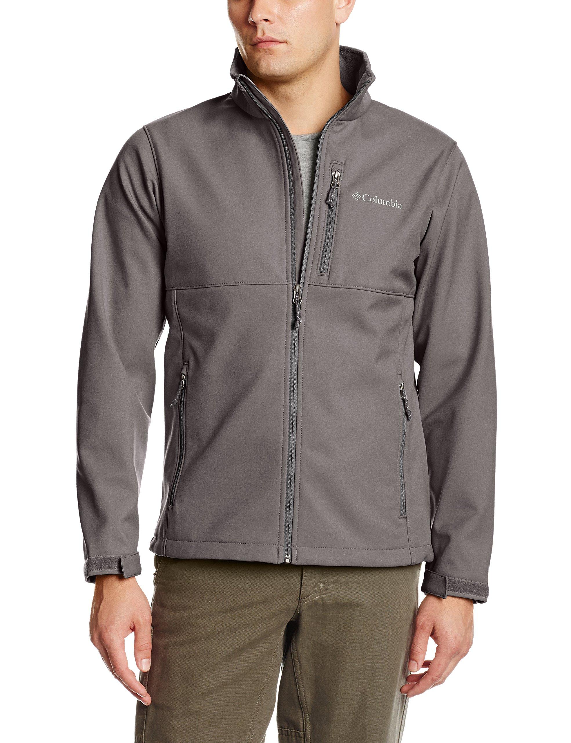 Columbia Men's Ascender Softshell Jacket, Boulder, Large