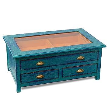 Couchtisch Wohnzimmertisch Tisch Holztisch Shabby Chic Landhaus Stil Kommode Schrank Schubladen Ca 40 Cm