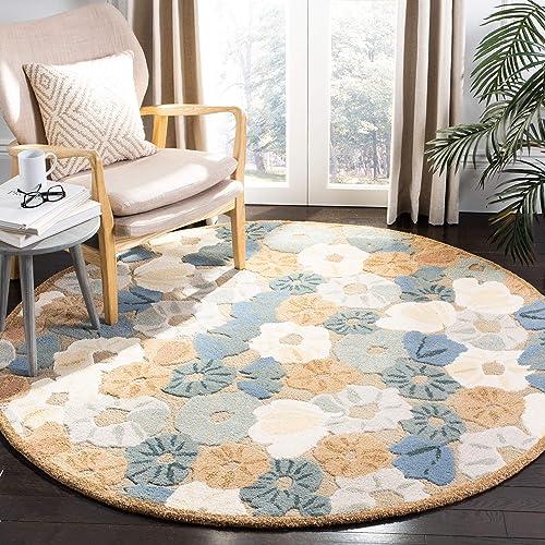 Safavieh Martha Stewart Collection MSR3625C Premium Wool and Viscose Cornucopia Beige Area Rug 6 Diameter