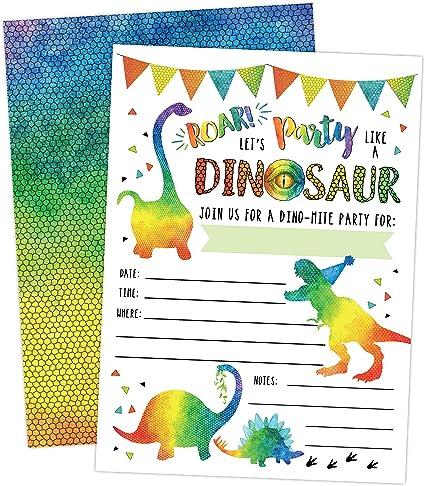 DINO MITE Handmade Green Dinosaur Blank Greeting Card 5 x 4 Envelope Included