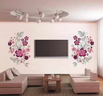 Buy Syga Floral Wall Sticker PVC Vinyl 61 cm x 5 cm x 5 cm