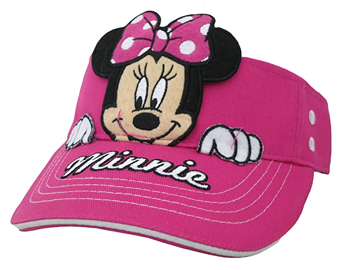 bf77b095fcf Image Unavailable. Image not available for. Color  Disney Minnie Mouse  Girls Hot Pink Visor Cap ...