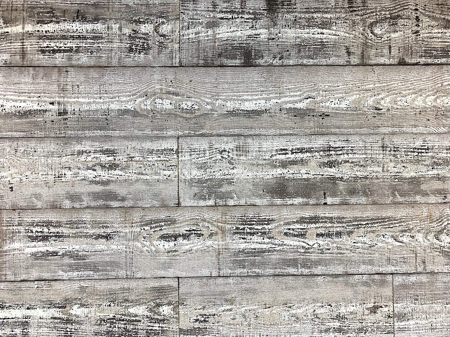 Easy Planking E-110 Thermally-Modified Barn Wood Wall Planks 48 in. (10 sq. ft.), Black/White, 6 Piece by Easy Planking