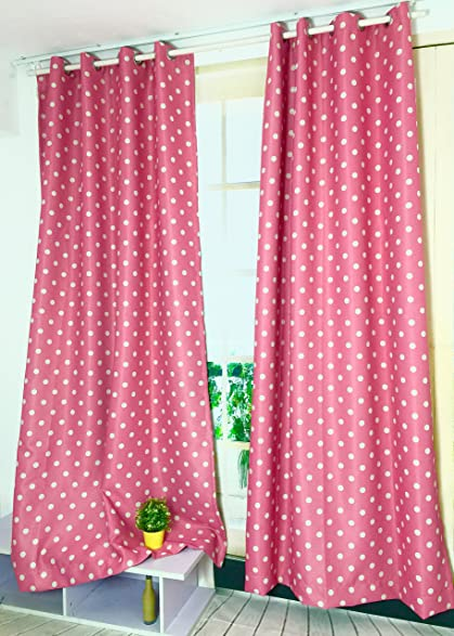 Charmant 1 Panel Pink Polka Dot Curtains For Girls Living Room Bedroom  (39u0026quot;by63u0026quot;