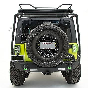 Restyling Factory - Kit de soporte de placa de licencia de rueda de repuesto trasera reubicación para 07 - 17 Jeep JK Wrangler: Amazon.es: Coche y moto