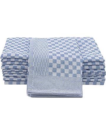 ZOLLNER Set de 10 Trapos de Cocina Grandes, algodón 100%, Medidas 46x90 cm