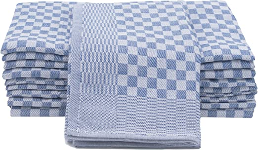 ZOLLNER 10 Trapos de Cocina Grandes, algodón, 46x90 cm, a ...