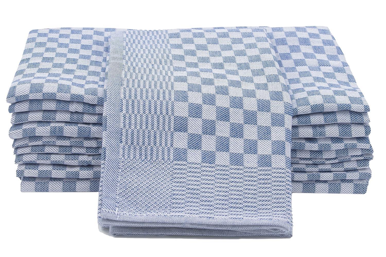 ZOLLNER Set de 10 Trapos de Cocina Grandes, algodón 100%, Medidas 46x90 cm, a Cuadros Azules y Blancos: Amazon.es: Hogar