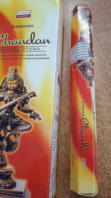 Darshan Incense Chandan 120 Sticks Box