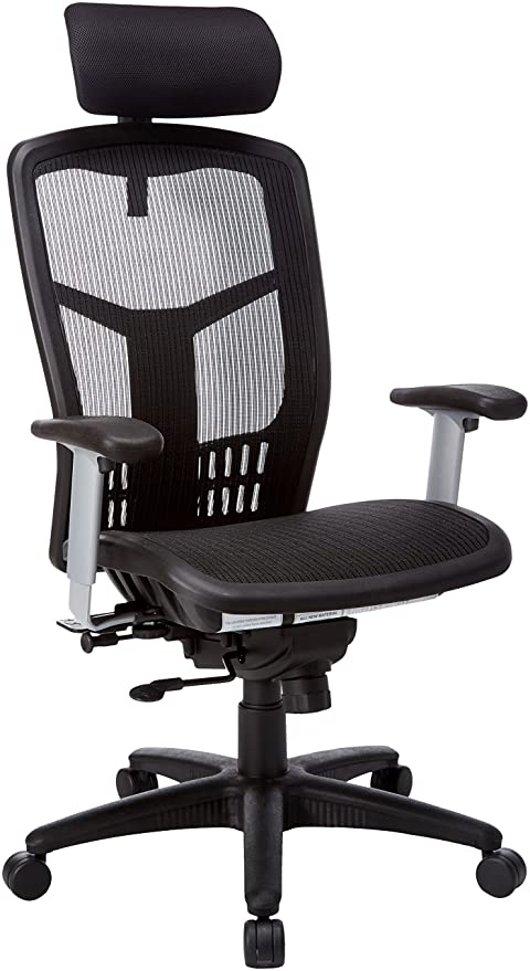 amazon com lorell hi back chair 28 1 2 by 28 1 2 by 51 inch black