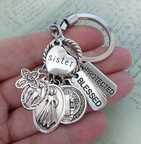 Amazon com: Sister Keychain, Purse Clip or Backpack Clip