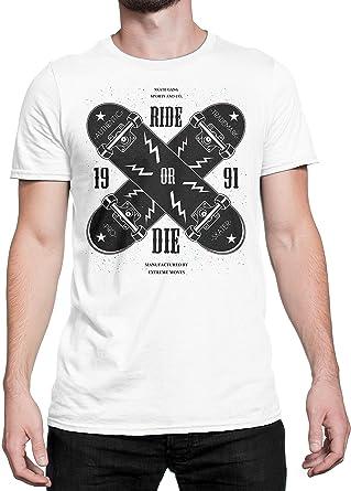 LaMAGLIERIA Camiseta Hombre Ride Or Die Skate tee - Camiseta 100% algodòn: Amazon.es: Ropa y accesorios