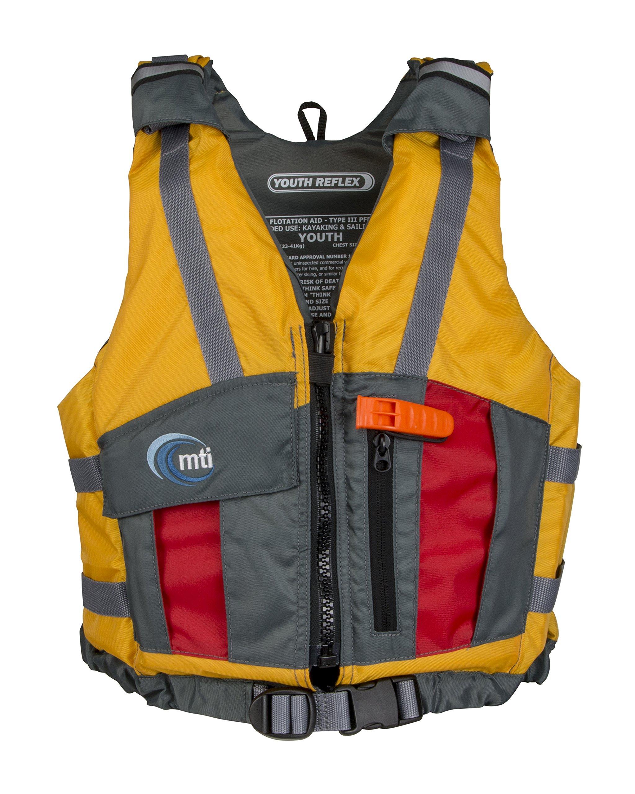 MTI Youth Reflex Life Jacket - Mango/Red - Youth (50-90 lb) by MTI Life Jacket