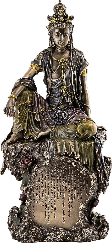 40MM//21g Curio China Bronze Buddhism Guanyin Kwan-yin Bodhisattva Amulet Pendant