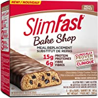1 Box of Slimfast Bake Shop Meal Replacement Bars, with 15g of Protein & 5g Fiber, 5 - 60g Bars per Box  = 5 Bars Total; Chocolatey Crispy Cookie Dough Bar