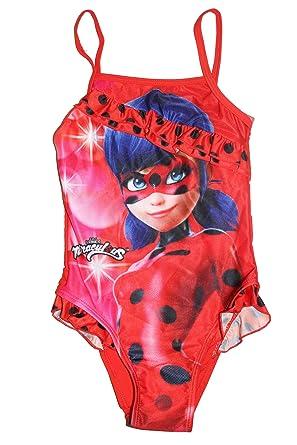 gute Qualität suche nach neuesten Genieße den reduzierten Preis ZAG Heroez Miraculous Ladybug Mädchen Badeanzug (116, Rot ...